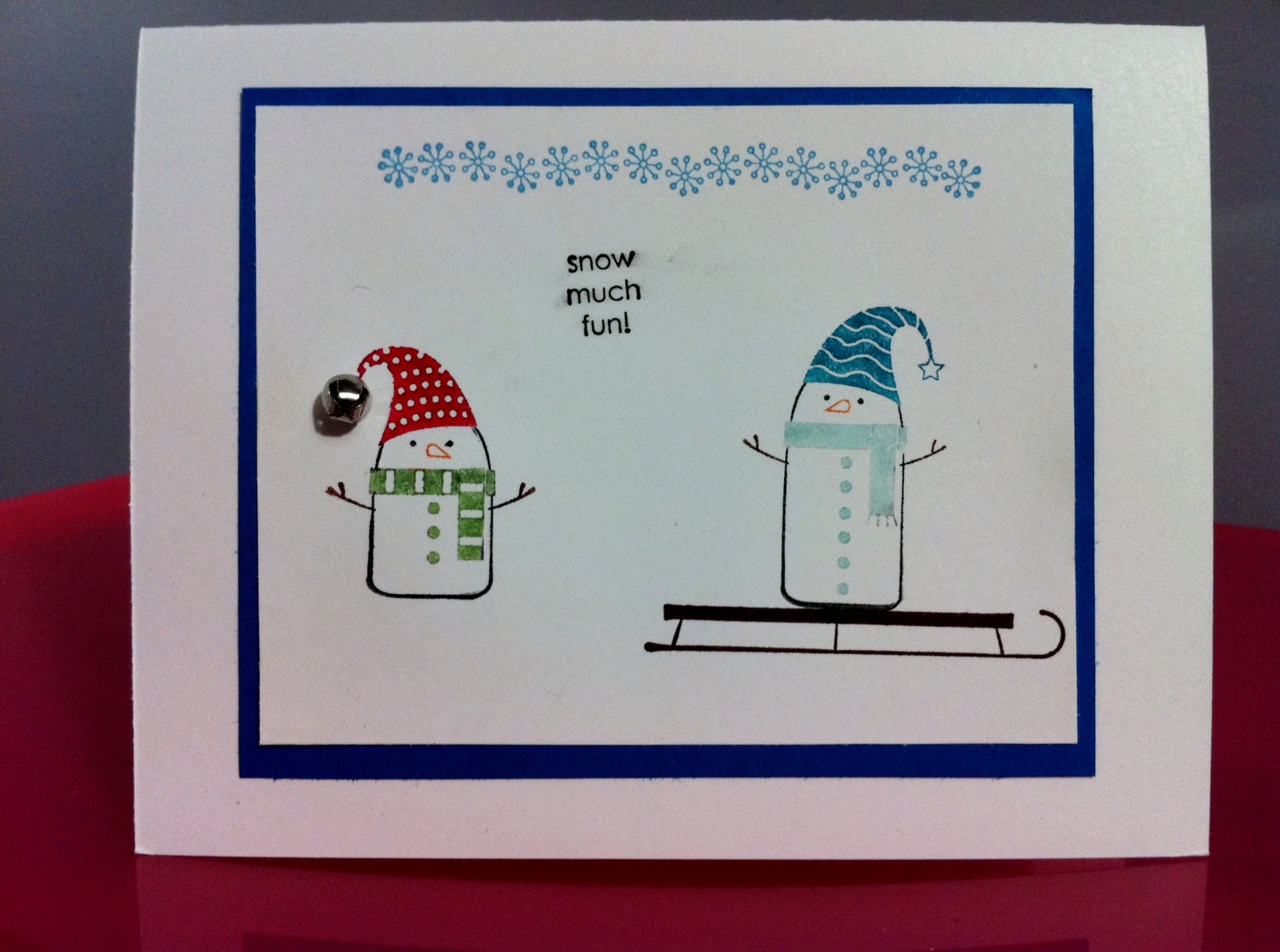 Merry Winter Snow Much Fun Handmade Card