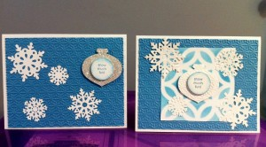 Northern Frost and Snow Burst Handmade Cards