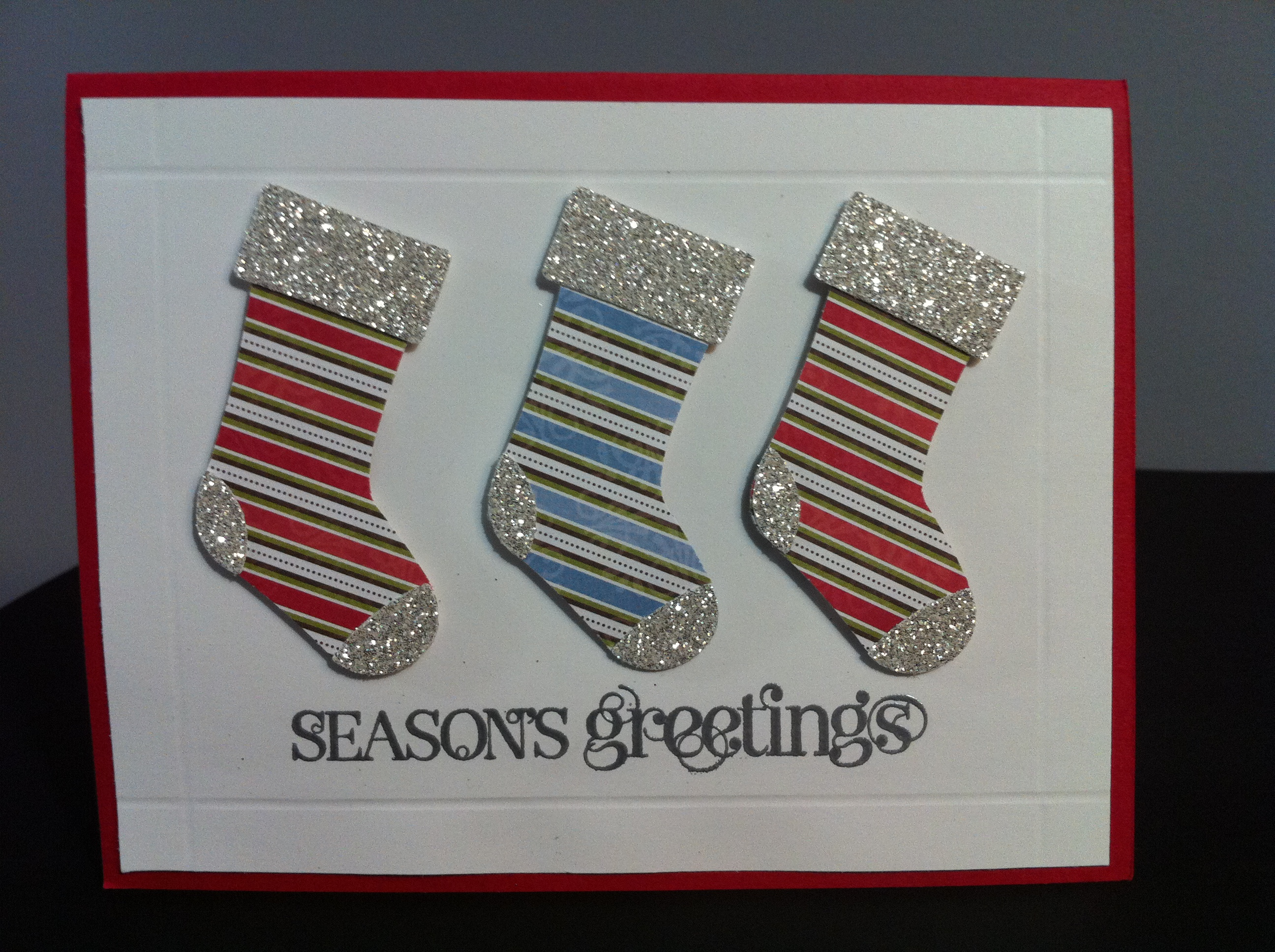 Stocking Punch Christmas Card
