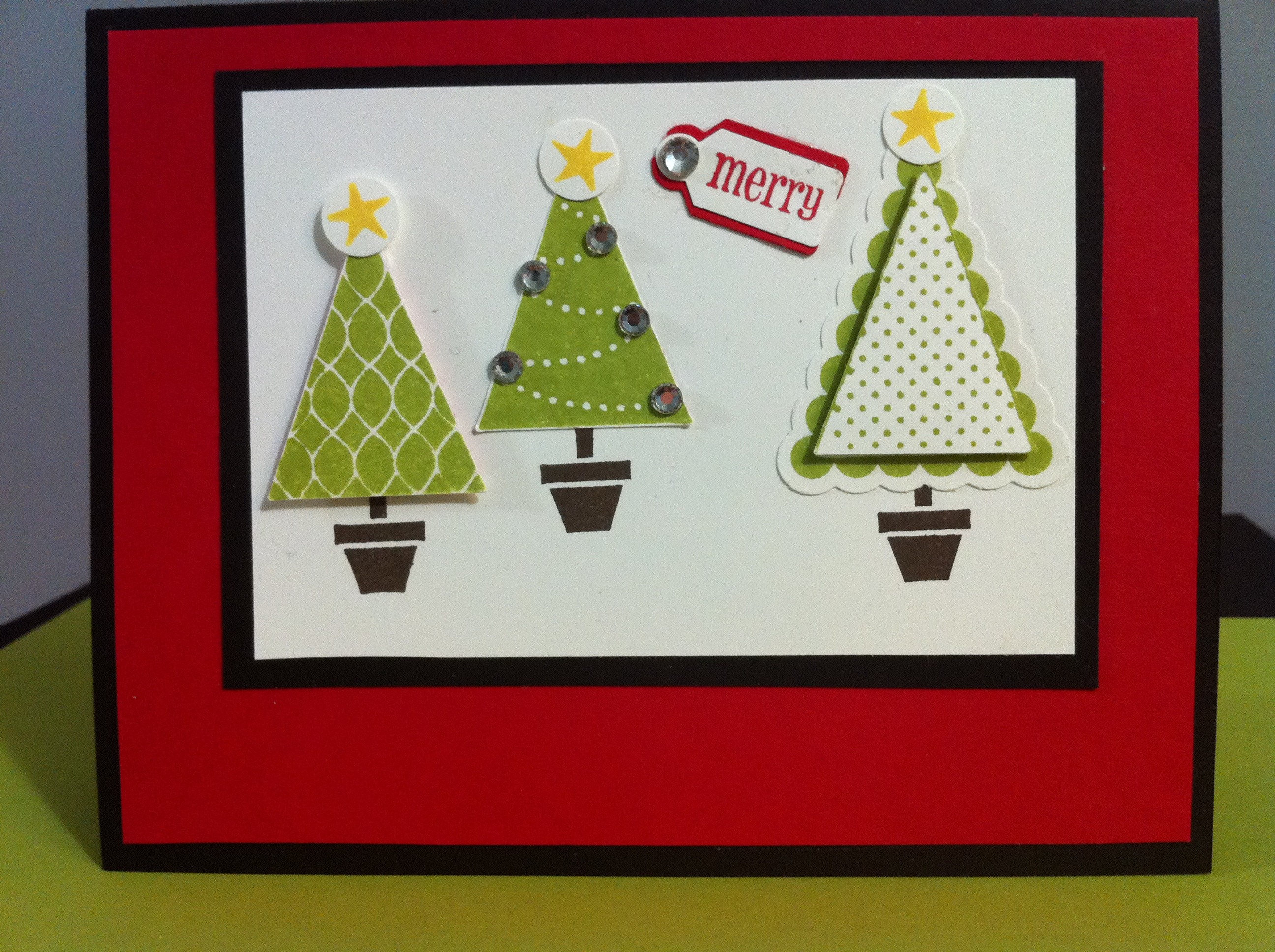 Triangle Punch Christmas Tree Card