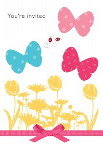Butterfly Birthday Theme Invite Digital Card