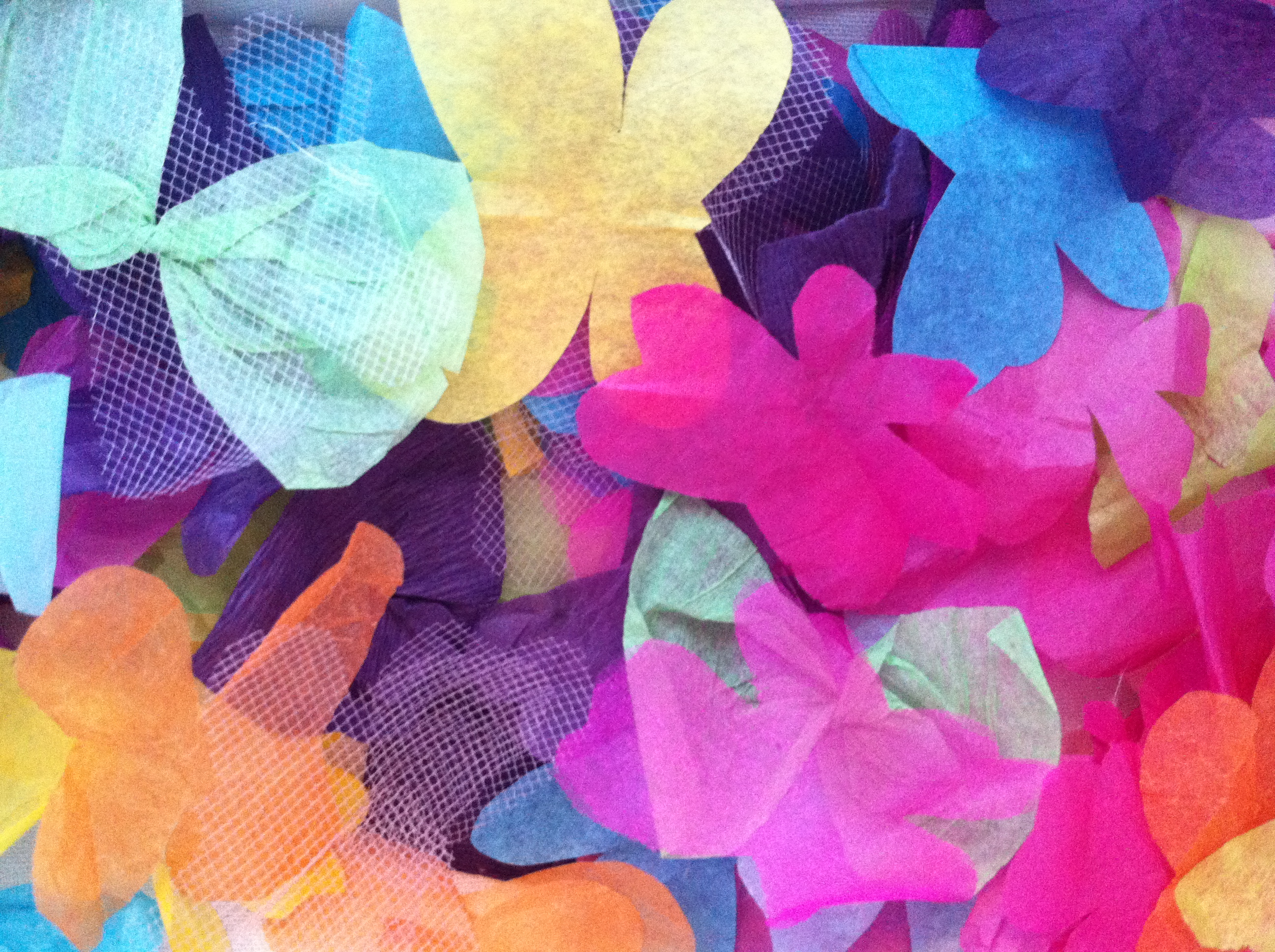 Tissue Paper Butterflies Butterfly Birthday Party Game