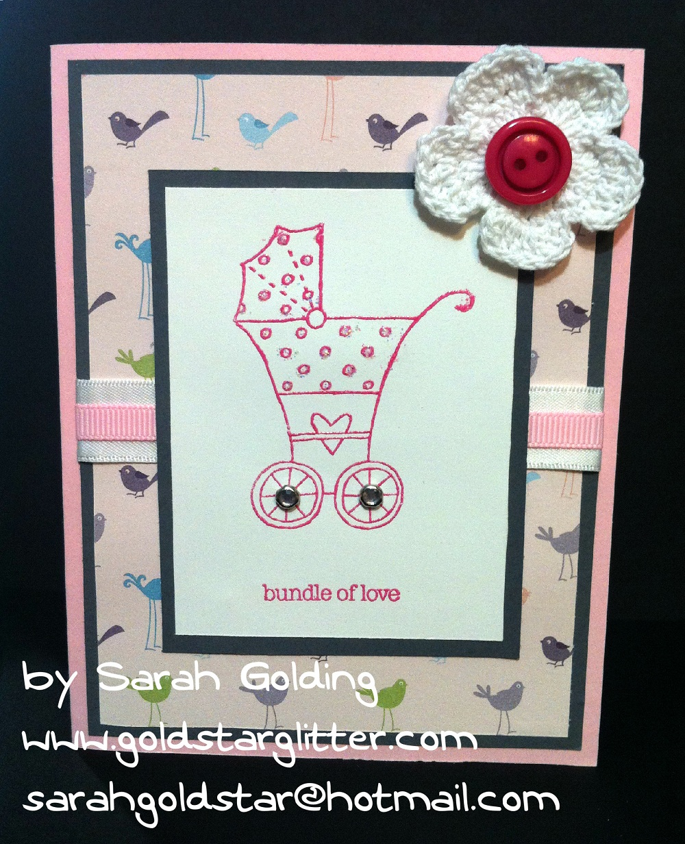 Baby Bundle Stamp Set Baby Shower Card