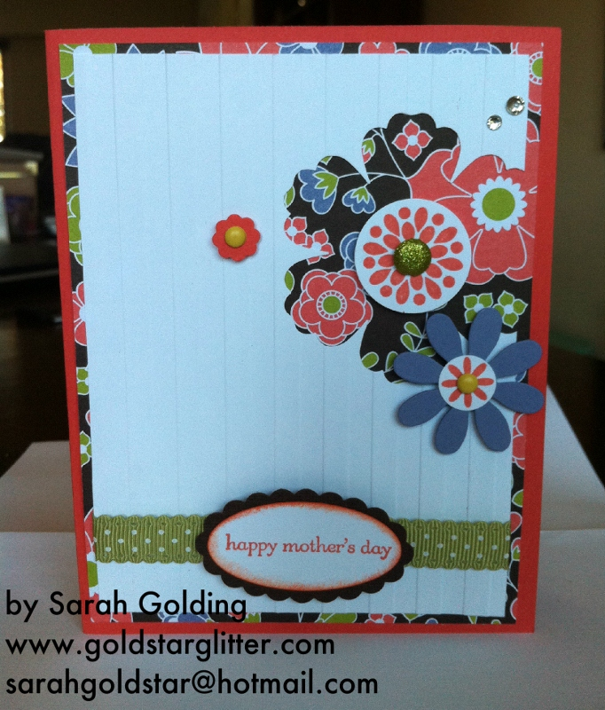 Mixed Bunch Blossom Punch Mothers Day Card