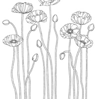 Pleasant Poppies Extra Large Stamp