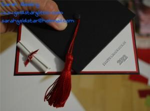Pop Up Gradiation Card Folded