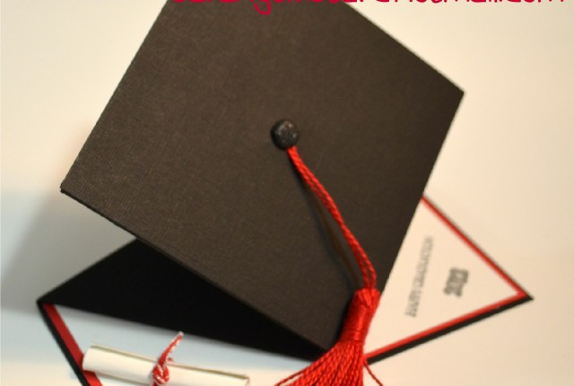 Pop Up 3D Graduation Card Front View