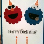Elmo and Cookie Monster Birthday Card