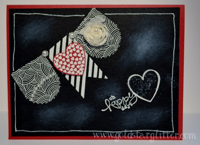 Chalkboard Technique Valentine Card