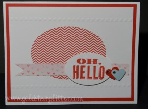 Oh Hello Stamp Set Valentines Card