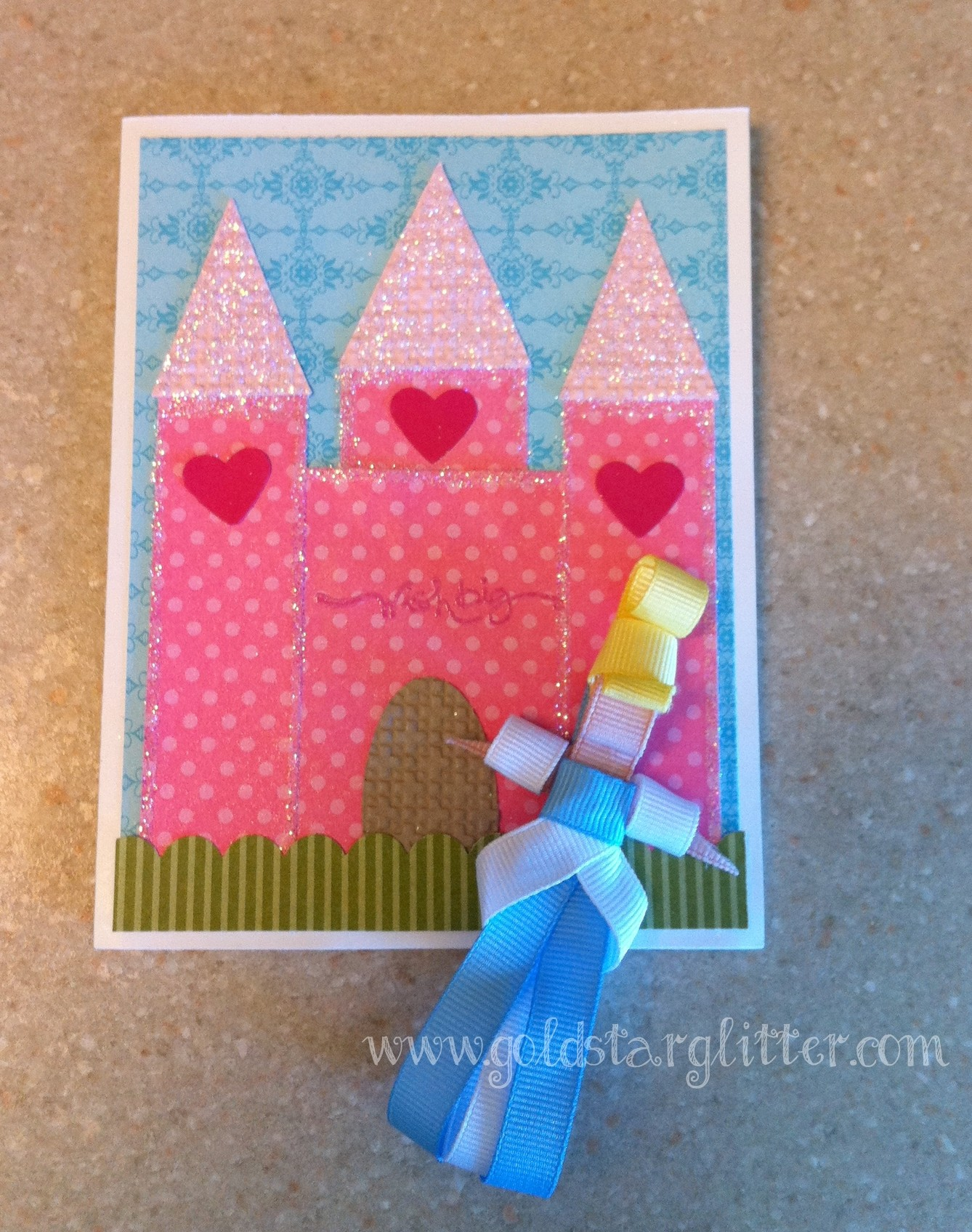 Princess Card & Ribbon Cinderella Doll-001