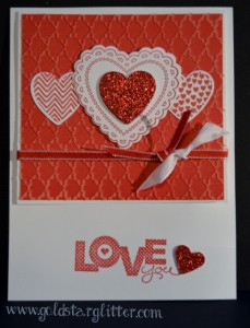 Hearts a Flutter Valentines Card