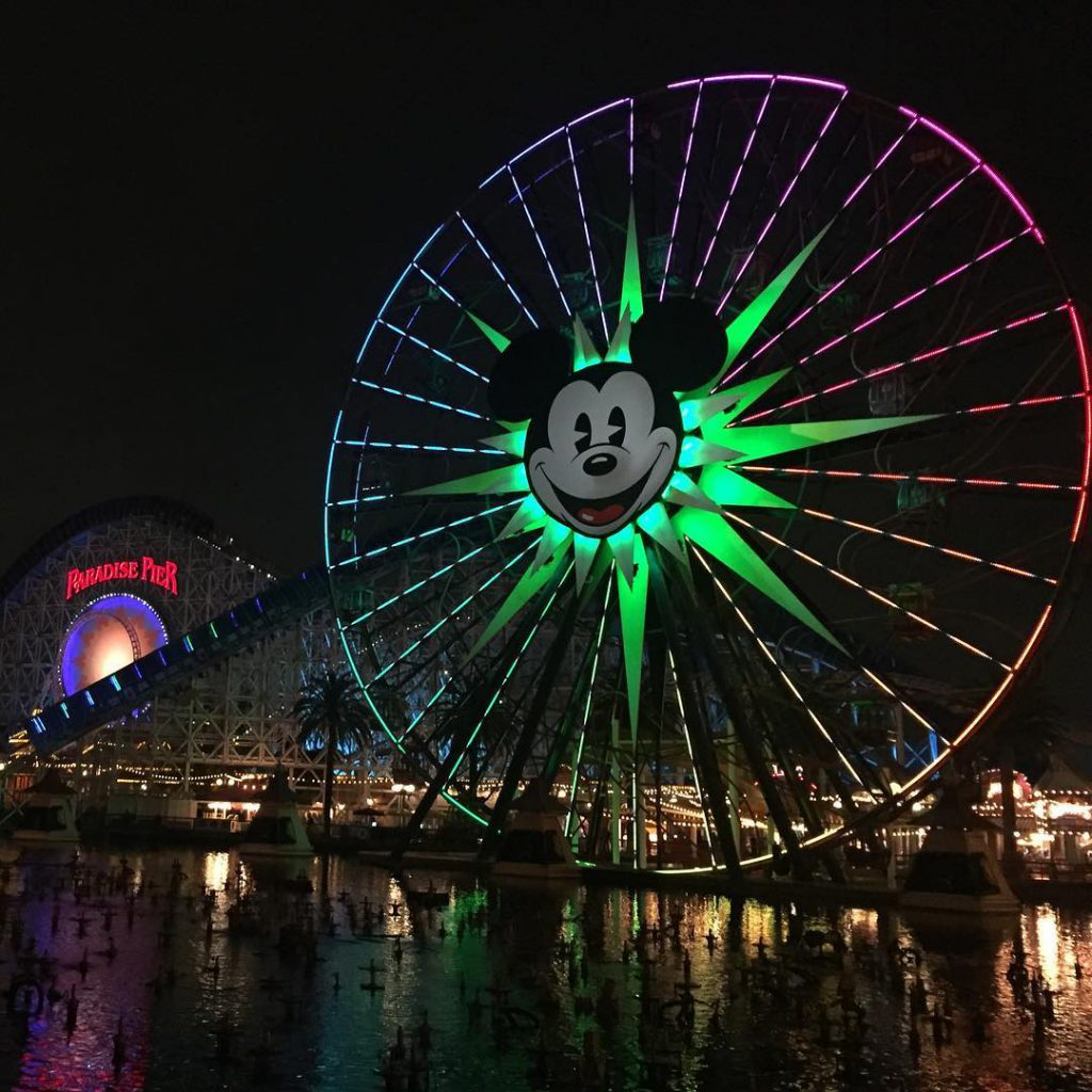 Waiting for World of Color water show at Paradise Pierhellip