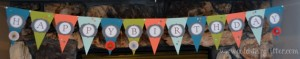 Birthday Pennant Banner Stampin Up In Colours