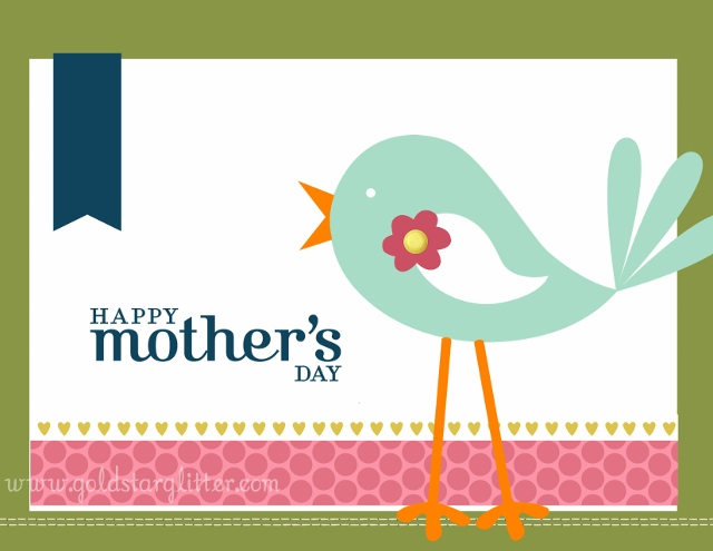 Mothers day card using MDS