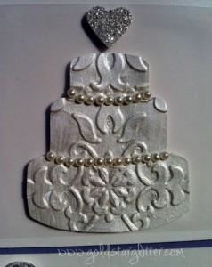 Wedding Cake Card Close Up