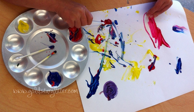Kids Q-tip Painting Activity