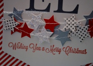 Star Garland Christmas Card Close Up