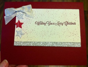 Merry Christmas Stars Card