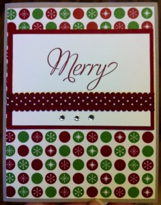 Merry Christmas Dots Card