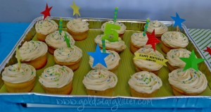 Gymnastic Birthday Cupcakes