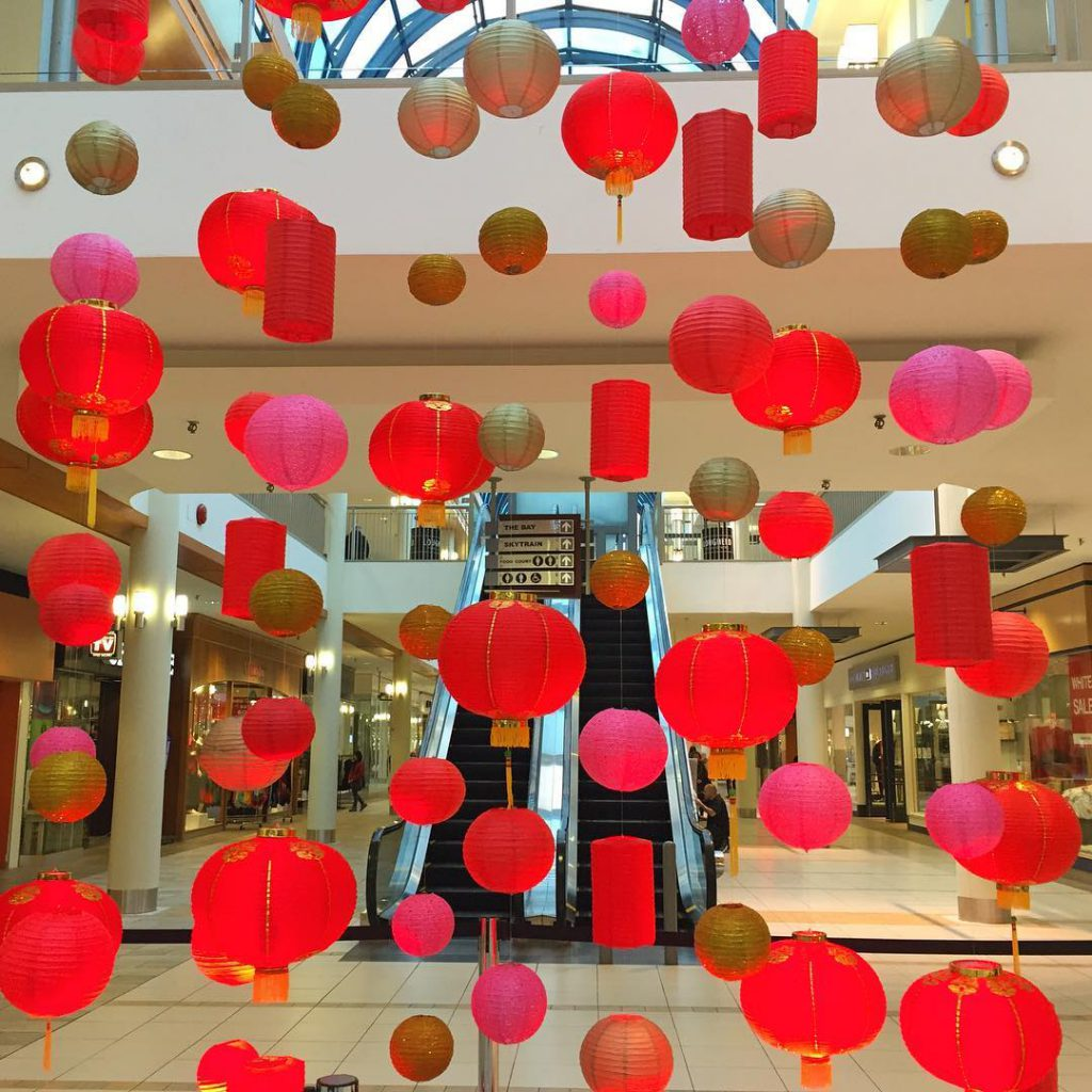 Chinese New Year Decorations at Lougheed Town Center Just thoughthellip