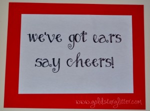 Minnie Mouse Party Say Cheers Sign