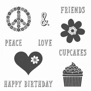 Peace, Love & Cupcakes Stamp Set Stampin Up