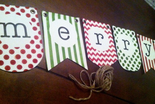 Handmade Merry Pennant Banner