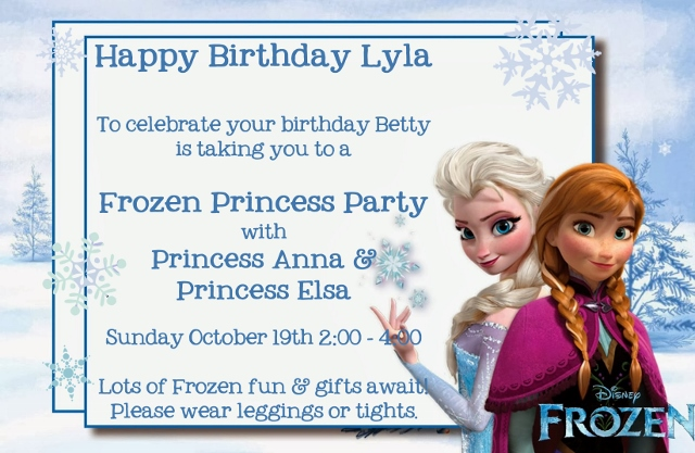 Frozen Party Gift