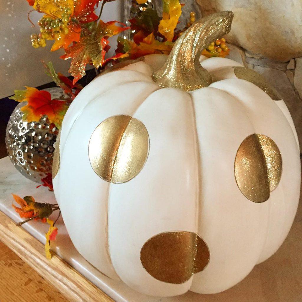 Happy Halloween  pumpkin halloween polkadots sparkles sparklypumpkin gold happyhalloweenhellip
