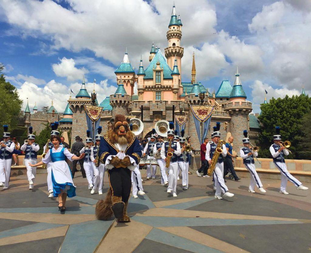 Watching the Disneyland Band when all of a sudden Bellehellip