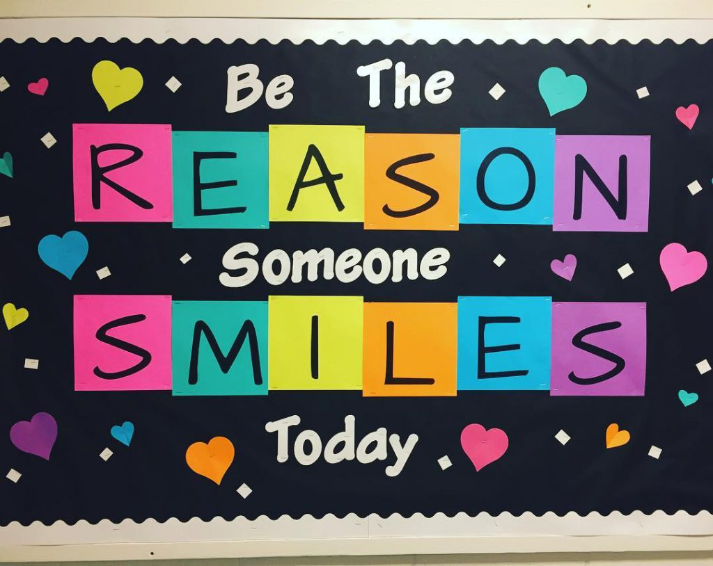 Be the Reason Someone Smiles Today! Love this bulletin boardhellip