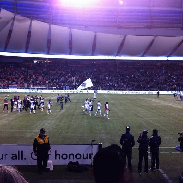 Congrats Vancouver Whitecaps football club for your win tonight!! Woot woot
