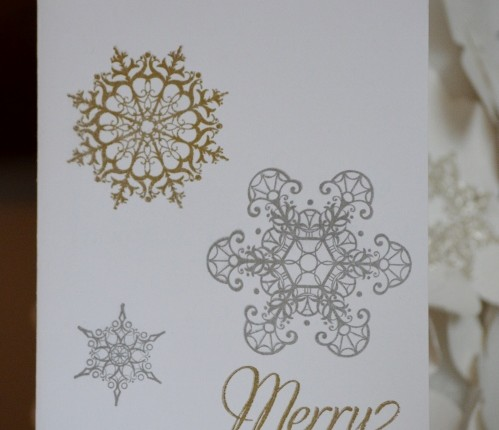 Gold & Silver Christmas Card